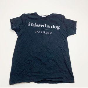 Gildan Black Graphic Short Sleeve Crew Neck Tshirt